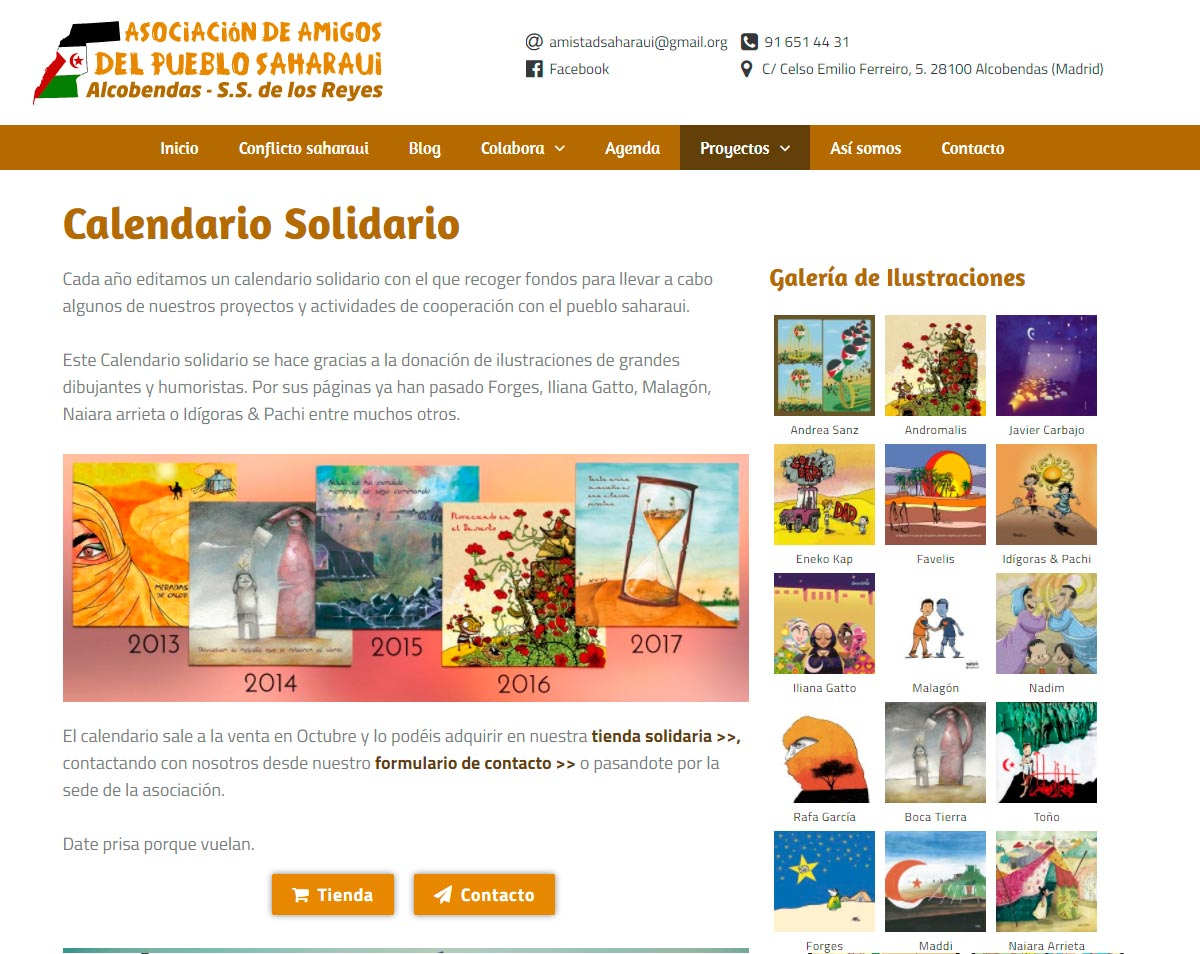 Web Wordpress Amistad Sahara